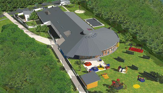 centre de loisirs et restauration gretz armainvilliers riff architectures projet laureat. Black Bedroom Furniture Sets. Home Design Ideas
