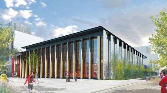 gymnase lyon atelier d 39 architecture bernard paris associ s projet laureat. Black Bedroom Furniture Sets. Home Design Ideas