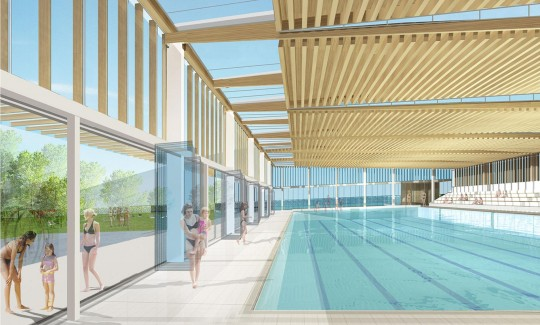 Piscine d 39 annemasse annemasse bvl architecture projet for Piscine bonneville