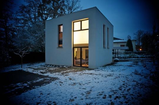 maison cube la celle saint cloud christophe potet architecte realisation. Black Bedroom Furniture Sets. Home Design Ideas
