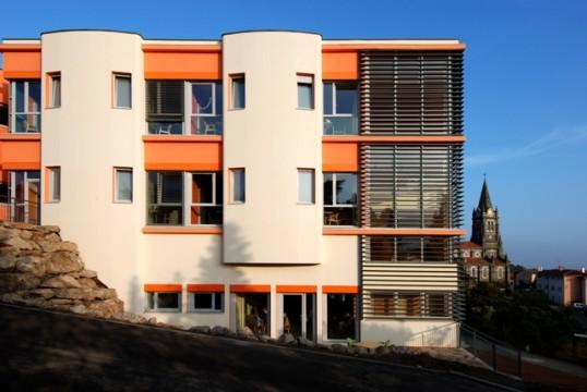 construction de l 39 ehpad saint joseph vaugneray at 39 las architectes realisation. Black Bedroom Furniture Sets. Home Design Ideas
