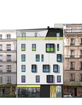 8 logements sociaux et 1 local commercial paris siz 39 ix architect - Facade local commercial ...